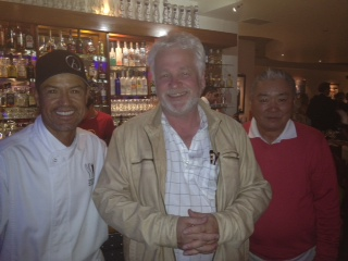 Terry Simpson with the Owners of Nick-Sans