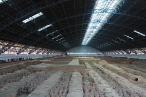 Just a small part of the findings-- longer than 2 football fields, all larger than life Terra Cotta Warriors