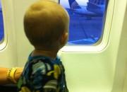 JJ likes the window seat
