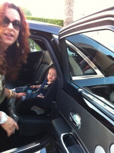 JJ travels in the limo