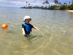 JJ in the water Kahala