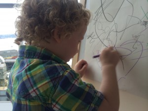 Some hotels leave extra things in the room for kids to do -