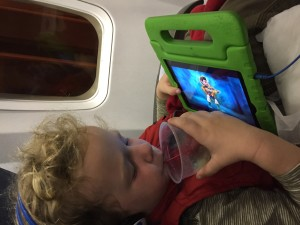 In flight entertainment can be provided by an iPad with your own movies loaded