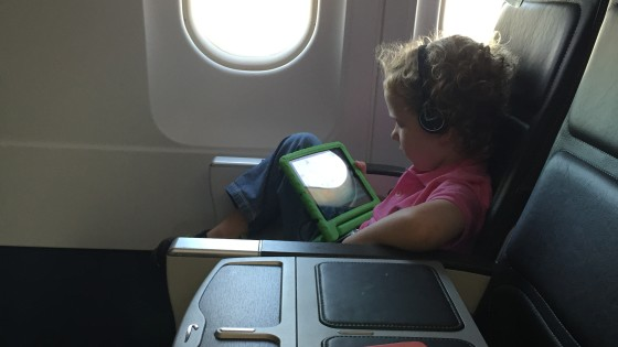 It looks like First Class if you are a toddler, but it is a normal seat. Middle seat is blocked off