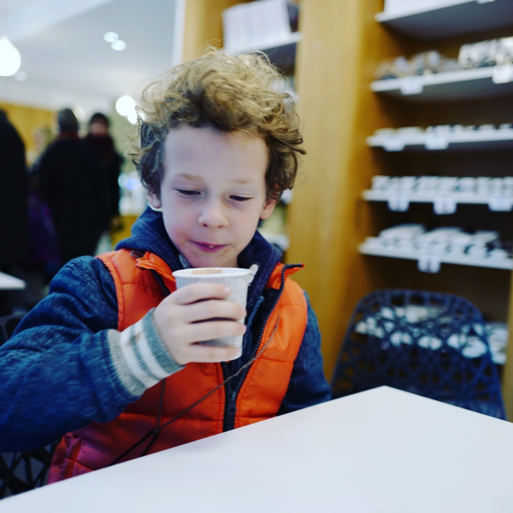 Even JJ enjoyed the coffee