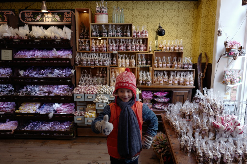 JJ in Candy Store